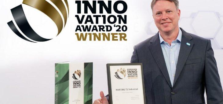 HARTING T1 Industrial SPE Interface gewinnt German Innovation Award 2020