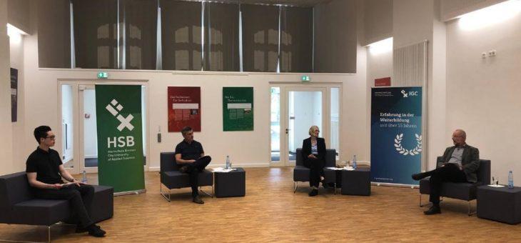Virtueller Experten-Talk der HSB Professional School über Corona-App mit über 100 Anmeldungen sehr erfolgreich