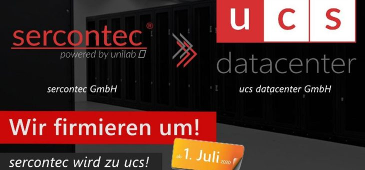 Der Mönchengladbacher IT-Dienstleister und Rechenzentrumsbetreiber sercontec GmbH heißt jetzt ucs datacenter GmbH