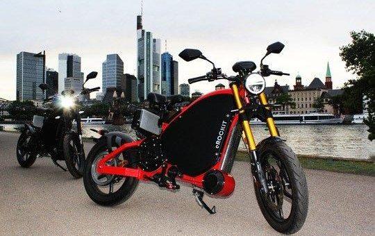 Pedale mit Power: Elektromotorrad eROCKIT erstmals in Frankfurt