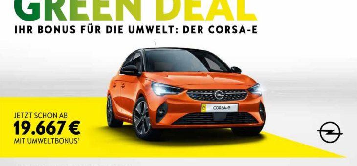 Jetzt ist Kaufzeit: Opel Corsa-e schon ab 19.667 Euro mit Umweltbonus