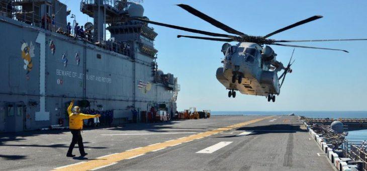Schwerer Transporthubschrauber CH-53K vor Abschluss der Testphase