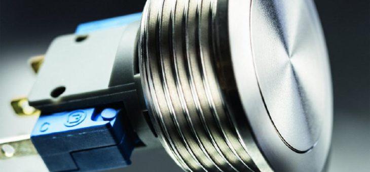 Puristischer Metal Line-Taster mit 24 mm Durchmesser