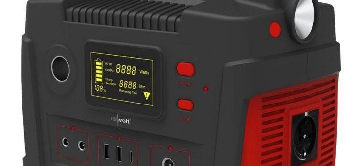 revolt Powerbank & Solar-Konverter HSG-900, 114 Ah, 420 Wh, 230 V, 12 V, USB, 600 Watt