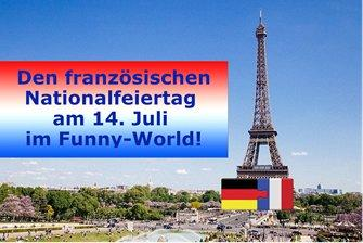 Funny-World bereitet sich auf den französischen Nationalfeiertag am 14. Juli vor