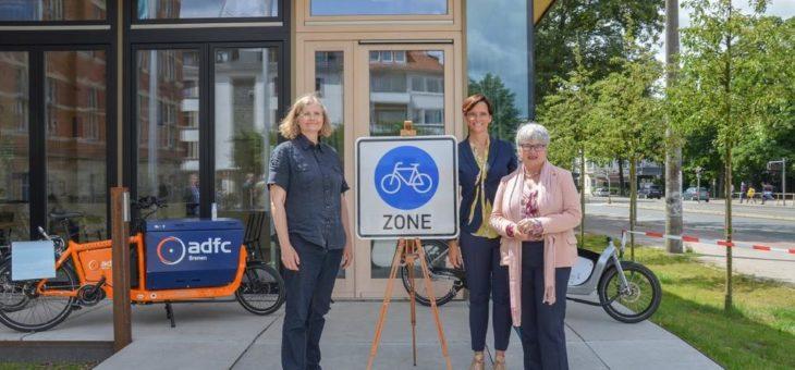 Deutschlands erste Fahrradzone in der Neustadt