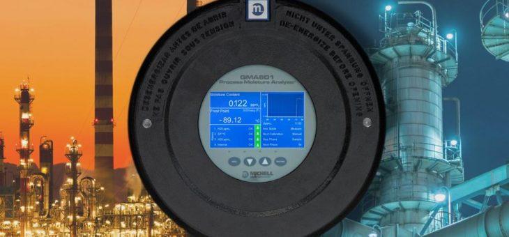 Schwingquarz-Feuchteanalysator für den Einsatz in Ethylen-Pipelines