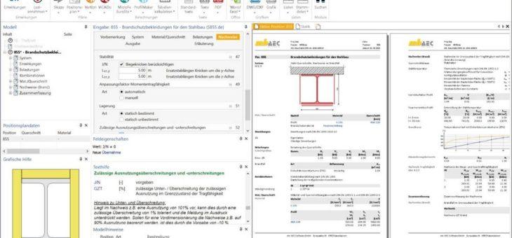 Modul S855.de – Die erste Statik-Software, die Brandschutz durch Feuerverzinken kann