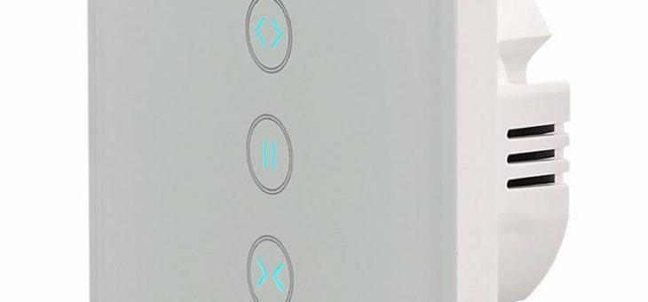Luminea Home Control Rollladen-Touch-Unterputz-Steuerung mit WLAN, App und Sprachsteuerung