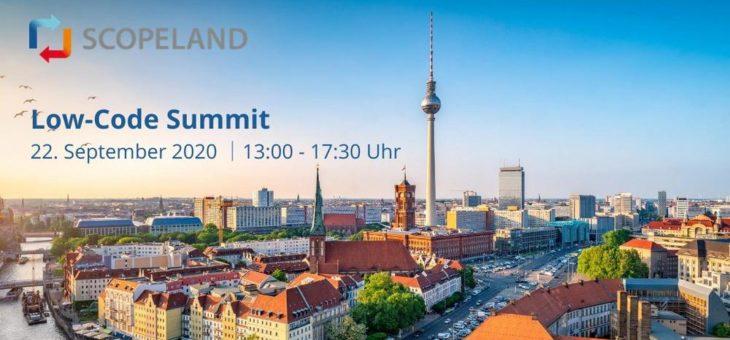 Scopeland Technology lädt zur Premiere des Low-Code Summit ein