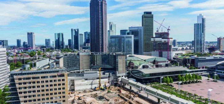 BAUER Spezialtiefbau GmbH an Neubau der Messehalle 5 in Frankfurt beteiligt