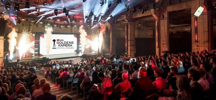 Am 8. September live im Netz: FUNKE und YouTube verleihen gemeinsam den YouTube GOLDENE KAMERA Digital Award
