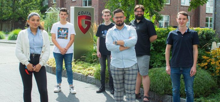 Startschuss gefallen: Sieben neue Auszubildende bei G DATA