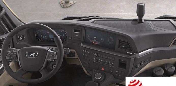 Fahrerarbeitsplatz der neuen MAN Truck Generation gewinnt im Red Dot Award