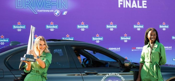 Heineken® und Formula E® veranstalten den weltweit ersten Elektroauto Drive-In