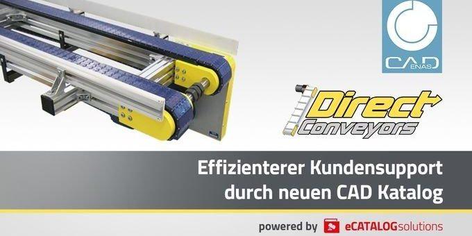 Direct Conveyors veröffentlicht 3D CAD Produktkatalog für Flachförderbänder powered by CADENAS