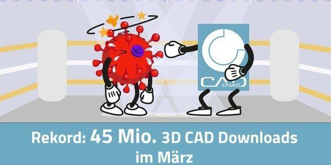 19 % Steigerung trotz globaler Ausnahmesituation: CADENAS verzeichnet 45 Mio. CAD Modelle Downloads im März