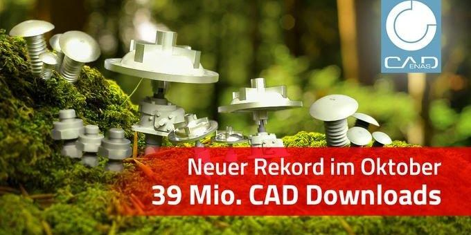 Herstellerkataloge beliebter denn je: Erstmals über 39 Mio. CAD Modelle Downloads im Monat