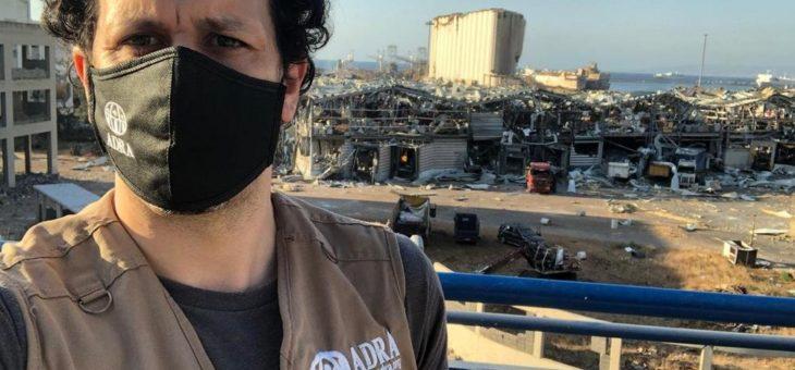 Beirut: ADRA-Teams unterstützen Ersthelfer und Überlebende
