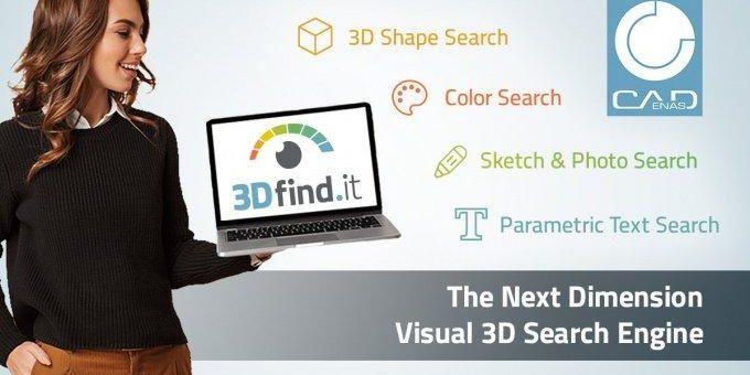 Startschuss für 3Dfind.it – Die visuelle Suchmaschine der nächsten Dimension für 3D Herstellerkomponenten