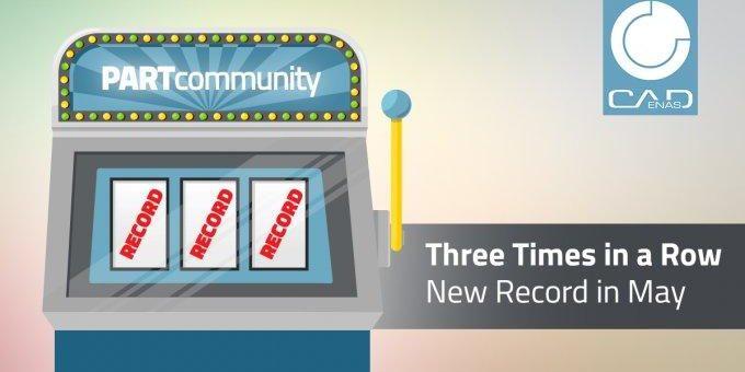 Der Triple ist perfekt: PARTcommunity glänzt drei Monate in Folge mit neuem 3D CAD Modelle Downloadrekord