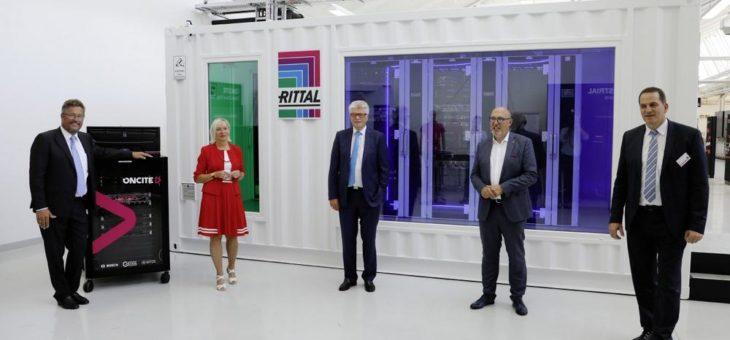 Digitalministerin besucht das neue Werk der Rittal GmbH in Haiger