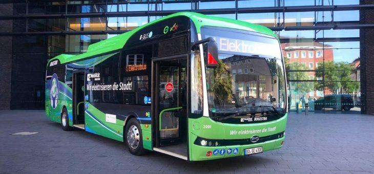 BYD beginnt mit wegweisender eBus-Flottenlieferung an die deutsche BOGESTRA