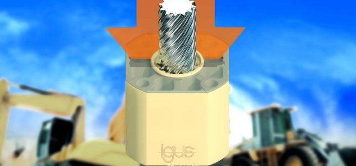 Hohe Lasten schmiermittelfrei verstellen mit neuer igus Polymer-Gewindemutter