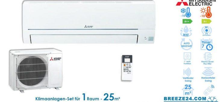 Klimaanlagen – Set von Mitsubishi Electric für 1 Zimmer mit bis zu 25 m²
