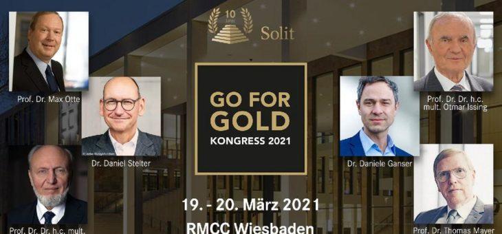 SOLIT Go for Gold-Wertekongress am 19.-20. März 2021 in Wiesbaden