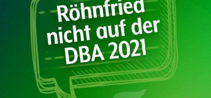 Röhnfried sagt Teilnahme an DBA 2021 ab