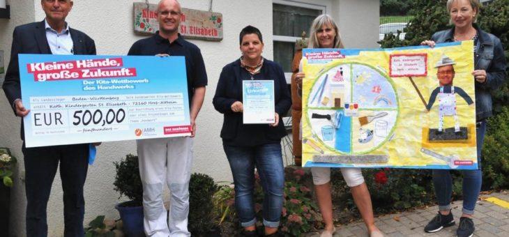 Kindergarten St. Elisabeth in Horb gewinnt Kita-Wettbewerb des Handwerks