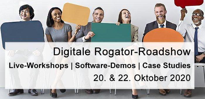 "Aktuelle Messen & Events: ""Digitale Rogator-Roadshow   20. + 22. Oktober 2020"""