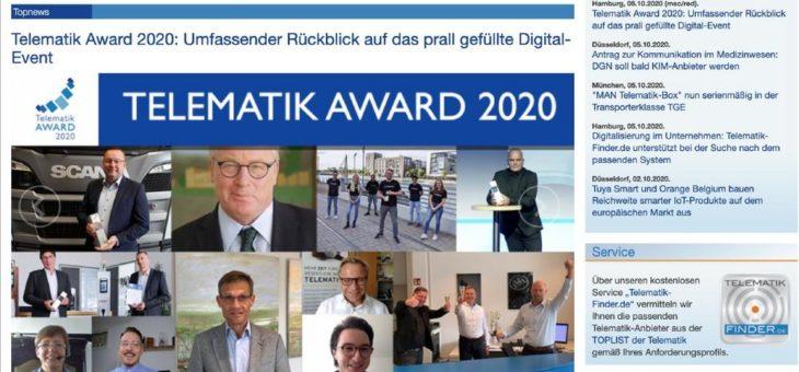 Die allererste Online-Vergabe des renommierten Telematik Awards war ein voller Erfolg!