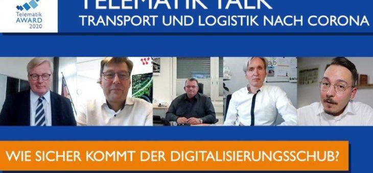 """""""Das Land und die Betriebe müssten digitalisiert werden"""" – #TelematikTalk zu Transport und Logistik nach Corona"""