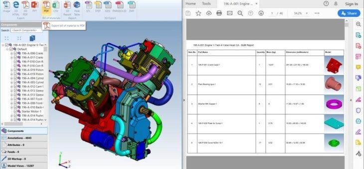 Glovius 3D-CAD-Visualisierung und Analyse – Flexiblere Einsatzmöglichkeiten durch neue Funktionen und CAD-Formate