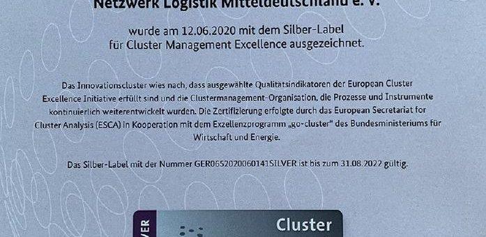 Netzwerk Logistik Mitteldeutschland erhält europäisches Silber-Label für seine Arbeit