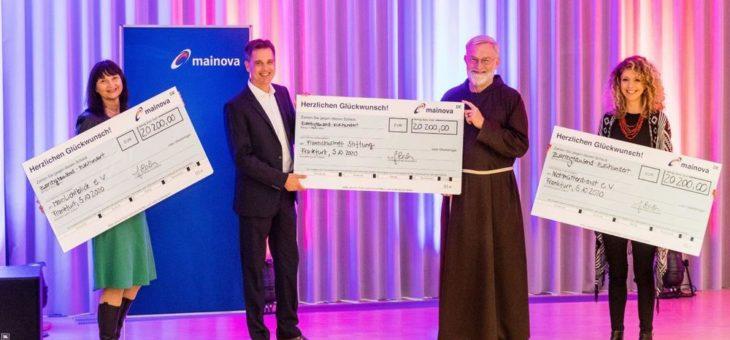 Mainova übergibt Spenden in Höhe von 60.600 Euro an drei Frankfurter Hilfsorganisationen
