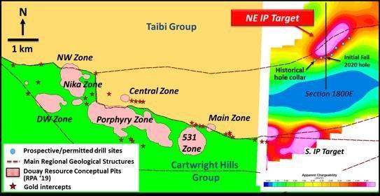 Maple Gold startet Herbst Explorationsprogramm erste Bohrungen zur Erprobung des IP-Ziels Nordost