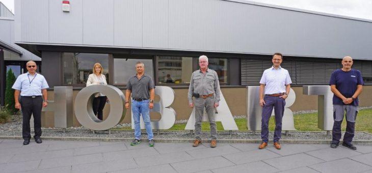 Neue Mitglieder im HOBART Quarter-Century-Club: Michael Seemann, Walter Möhrle und Michael Hauk