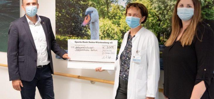 3.500 Euro für das Sozialpädiatrische Zentrum im Städtischen Klinikum Karlsruhe