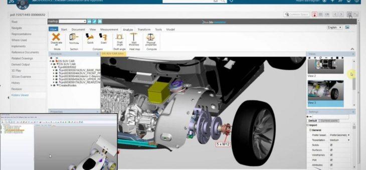 KISTERS 3DViewStation bietet schnelle und leistungsfähige Visualisierung für 3DExperience und SmarTeam