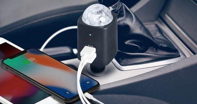 Technaxx Disco Mobile-Auto Charger TX-159: im Auto und für unterwegs