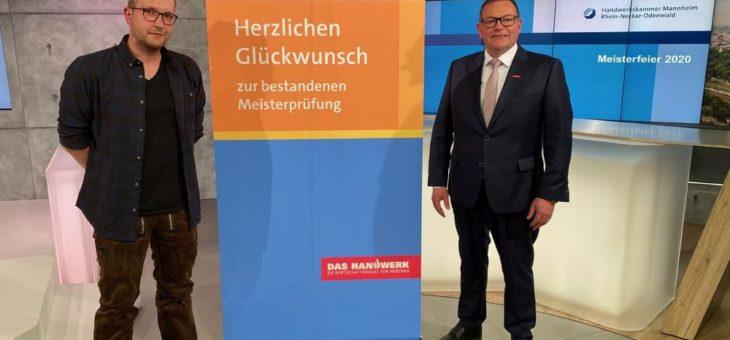 Meisterfeier 2020: Innovationspreis an Maximilian Epp aus Hirschhorn