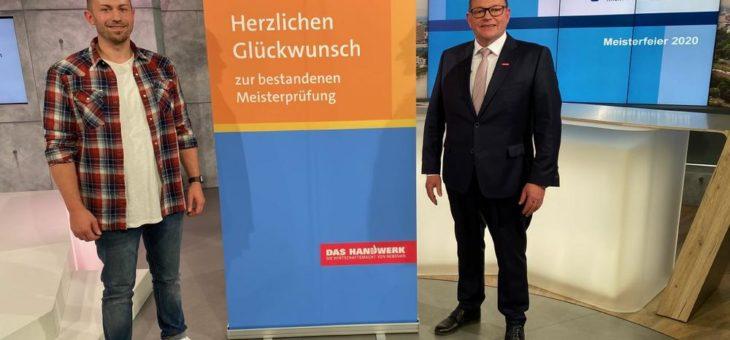 Oliver Krause aus Karlsruhe mit bester Meisterprüfung in einem Gesundheitshandwerk 2020