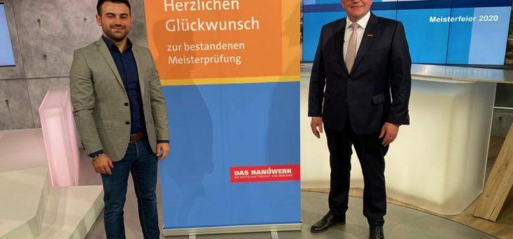 Meisterfeier: Förderpreis als Start-Up geht an Elektrotechnikermeister Mustafa Yorulmaz aus Bammental