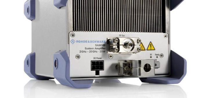 Neuer Systemverstärker von Rohde & Schwarz für Geräte im Mikrowellenbereich