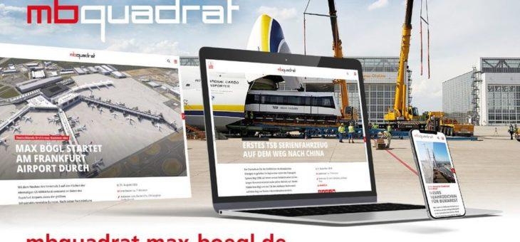 Das neue digitale Kundenmagazin von Max Bögl