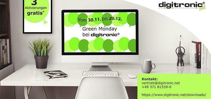 """""""Green Monday"""" Wochen bei digitronic"""