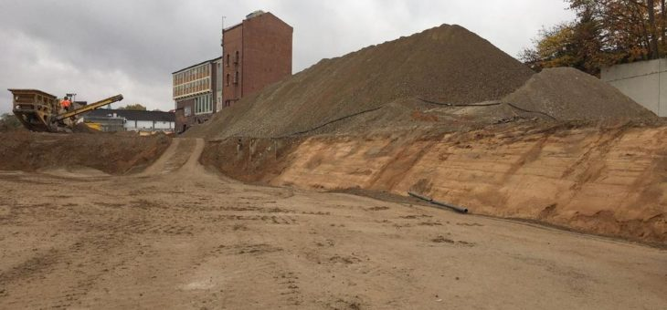 Abbrucharbeiten auf dem ehemaligen Branntweinareal planmäßig beendet